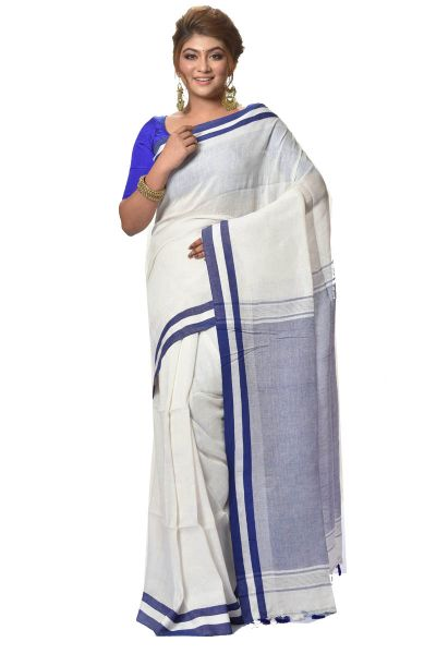 Linen Cotton Saree (adi35085)