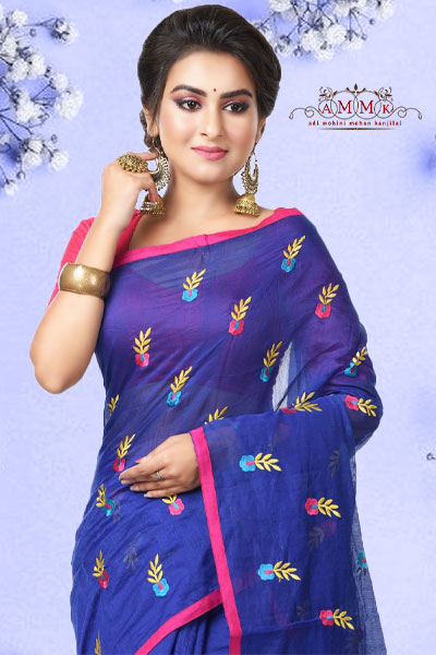 Applic Cotton Saree