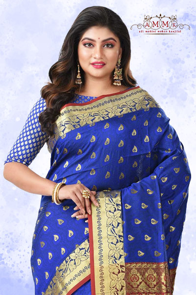 Blue Arni Silk Saree