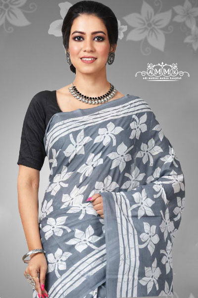 Malmal cotton saree