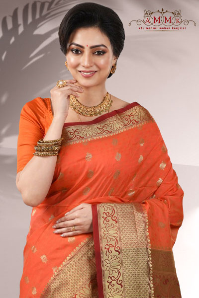 Orange Arni Silk