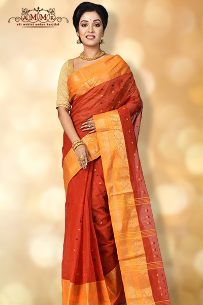 35a132495e This is a perfect attire for Durga Puja and other festivals. Taant saree is  a product of Murshidabad, Nadia, and Dhaka, Tangail in Bangladesh.