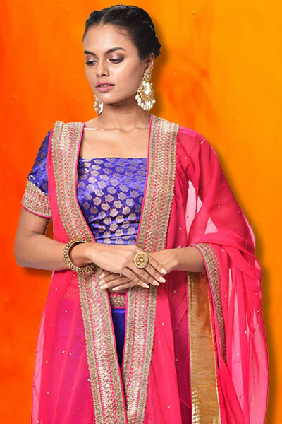 bece0c64f9b0 Lehenga saree draping style is a kind of method that provides a modern  touch to your traditional saree. It is best suitable for special occasions  like a big ...